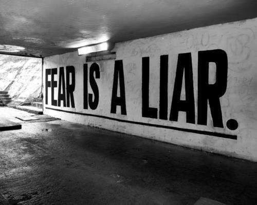 fear is a liar giant wall sign